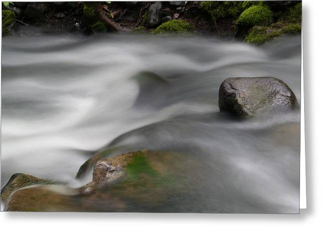 Water In Creek Greeting Cards - Where Little Day Dreams Slide Over Rocks Greeting Card by Jeff  Swan