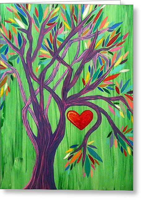 Tree Roots Paintings Greeting Cards - Where My Heart Resides  Greeting Card by Rachel Donnelly