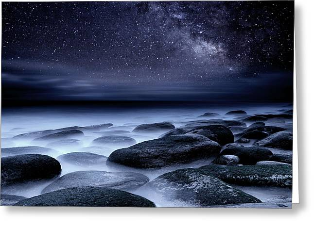 Ocean Moods Greeting Cards - Where No One has Gone Before Greeting Card by Jorge Maia
