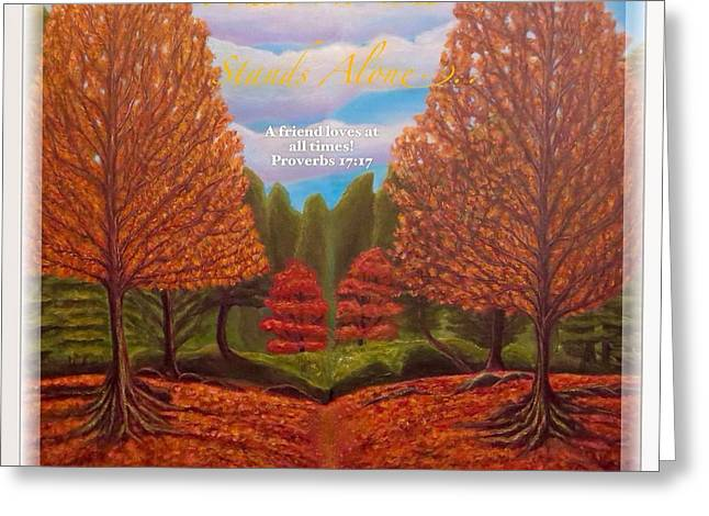 Many Greeting Cards - Where No One Stands Alone II Greeting Card by Kimberlee  Baxter