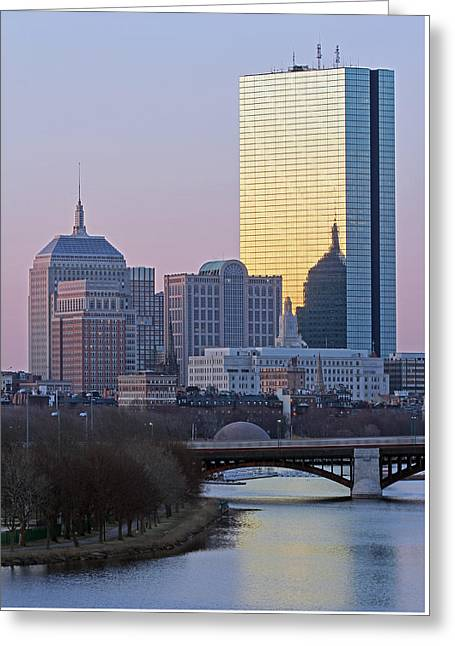 Charles River Greeting Cards - Where Old and New Meet Greeting Card by Juergen Roth