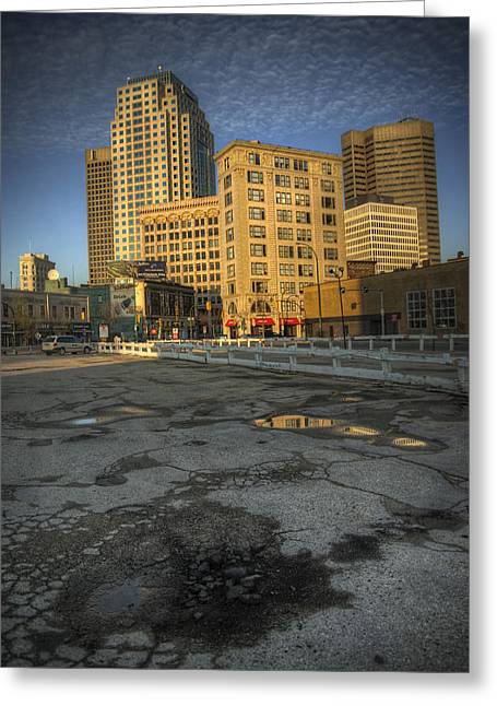 Parking Lots Greeting Cards - Where Once A City Stood Greeting Card by Bryan Scott