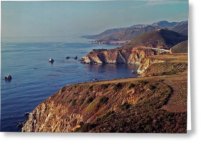 Big Sur California Greeting Cards - Where Sea meets Land Greeting Card by Klara  Miller
