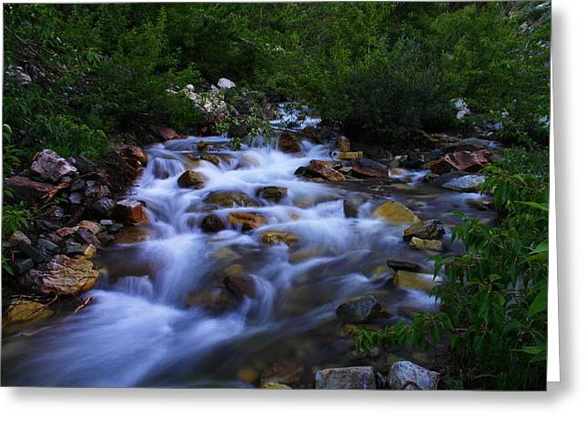 Where The Cool Water Flows Greeting Card by Jeff Swan