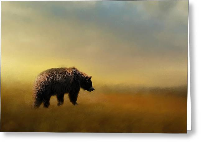 A Hot Summer Day Greeting Cards - Where The Grizzly Roams Greeting Card by Jai Johnson