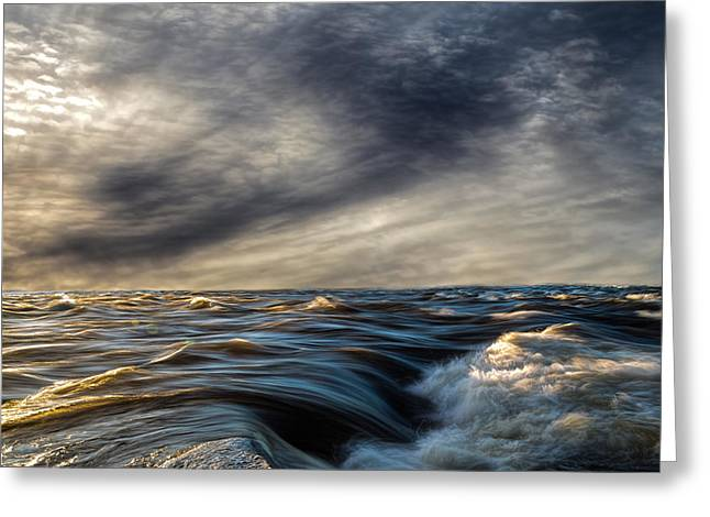 Where The River Kisses The Sea Greeting Card by Bob Orsillo