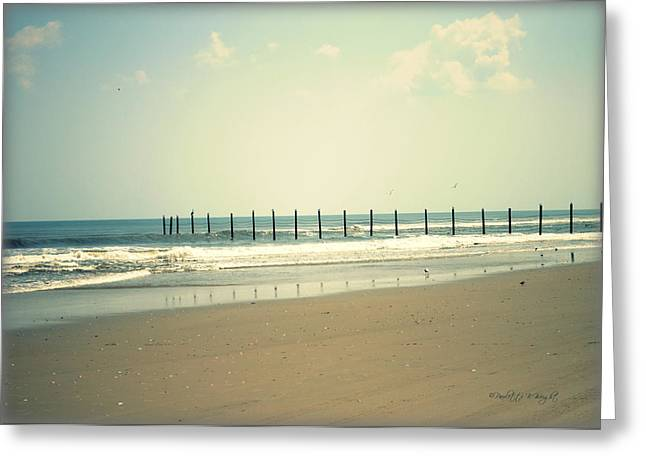 Ocean Landscape Greeting Cards - Where The Road Ends Greeting Card by Paulette B Wright