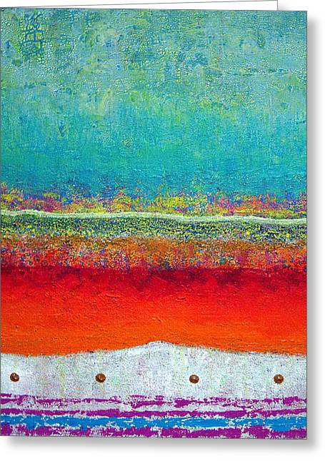 Jeremy Greeting Cards - Where the sand meets the sea Greeting Card by Jeremy Aiyadurai