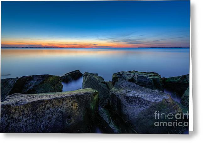 Where The Smooth Meets The Rough Greeting Card by Michael Ver Sprill