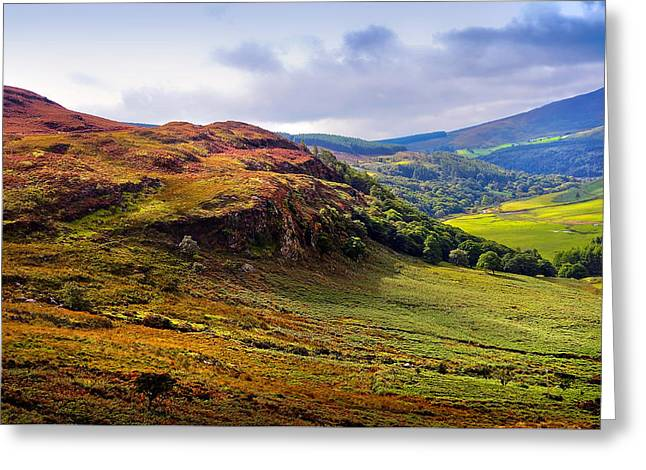 Souls Greeting Cards - Where the Soul is Flying. Wicklow Hills. Ireland Greeting Card by Jenny Rainbow