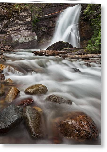 Art In Acrylic Greeting Cards - Where the Water Goes Greeting Card by Jon Glaser