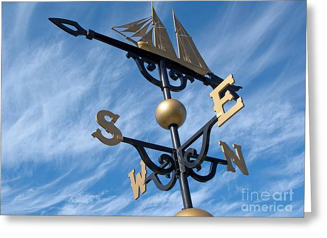 Weathervane Greeting Cards - Where the Wind Blows Greeting Card by Ann Horn