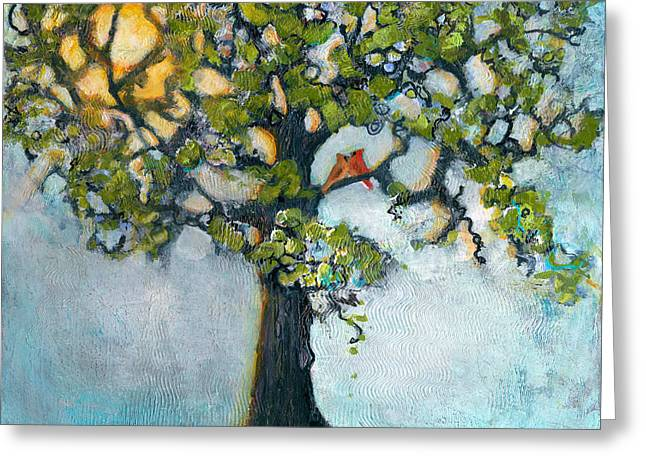 Tree Art Greeting Cards - Where There is Love  Greeting Card by Blenda Studio