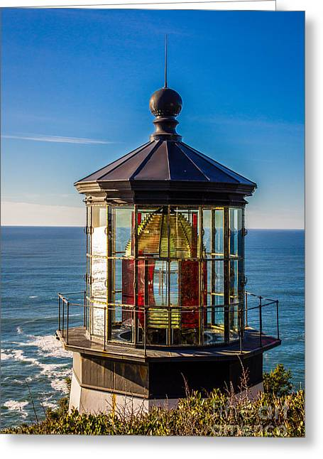Oregon Coast Greeting Cards - Where There Once Was Light Greeting Card by Jon Burch Photography