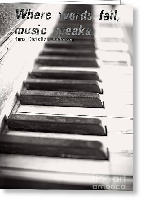 Ivory Greeting Cards - Where words fail music speaks Greeting Card by Edward Fielding