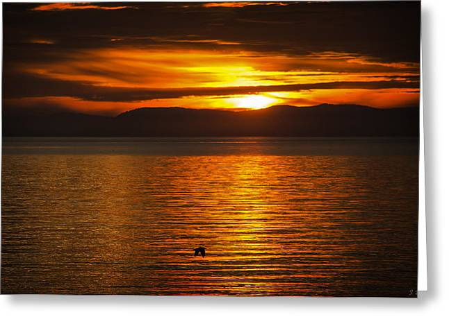 Amazing Sunset Greeting Cards - Where You Are Right Now Greeting Card by Jordan Blackstone