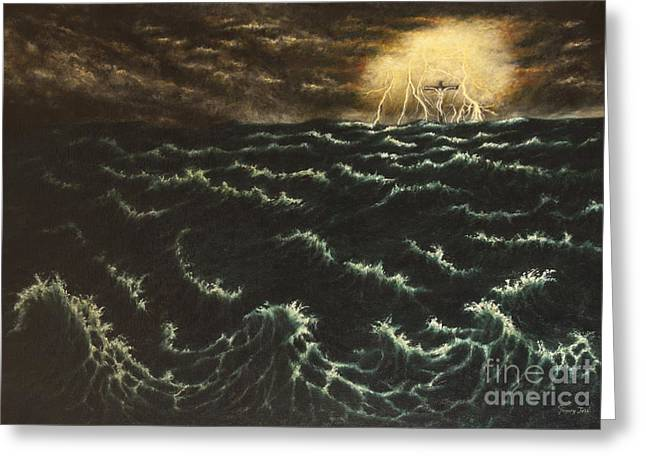Noahs Ark Paintings Greeting Cards - Wheres Noah? Greeting Card by Gregory John