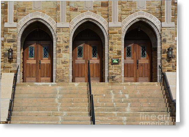 Final Destination Greeting Cards - Which Door Will You Choose Greeting Card by Barbara Dalton