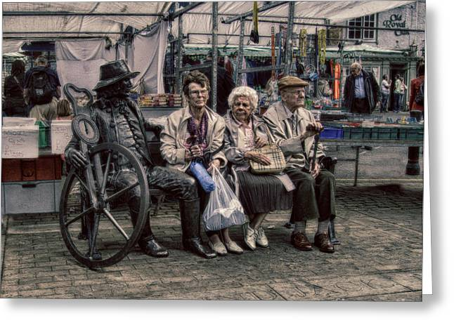 Information For Older People Greeting Cards - Which One Is the Statue Greeting Card by Michael Braham
