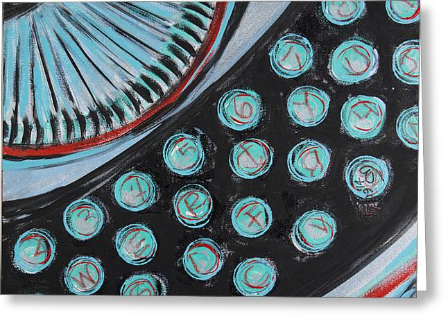 Typewriter Mixed Media Greeting Cards - Which Type Are You? Greeting Card by Becca Lynn Weeks
