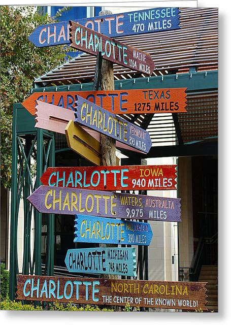 Charlotte Vermont Greeting Cards - Which way is Charlotte Greeting Card by Fred Koehl