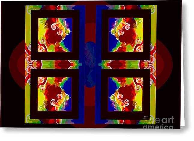 Hdr Greeting Cards - Which Way is Up Abstract Healing Art Greeting Card by Omaste Witkowski