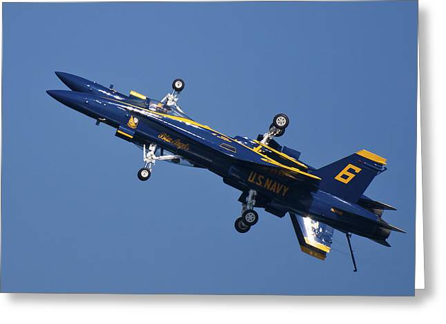 F-18 Greeting Cards - Which Way Is Up Greeting Card by Adam Romanowicz