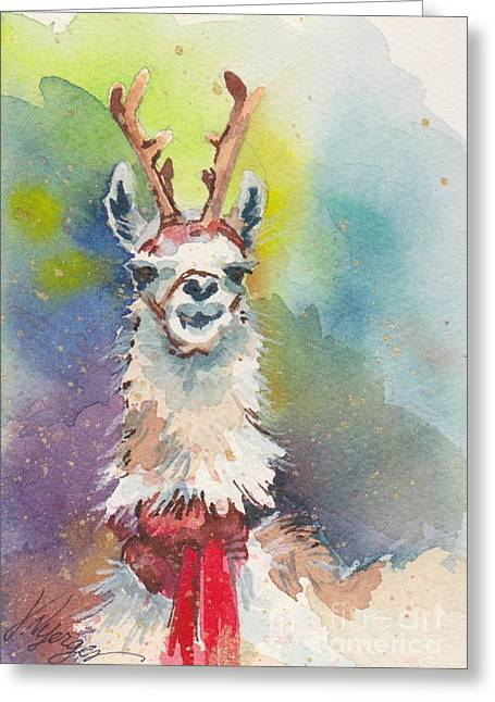 Whidbey Island Wa Greeting Cards - Whidbey Island Reindeer Greeting Card by Judi Nyerges