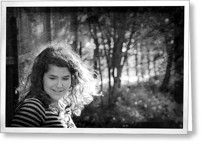 Sundown Framed Prints Greeting Cards - While Walking Along A Path Greeting Card by Theresa Tahara