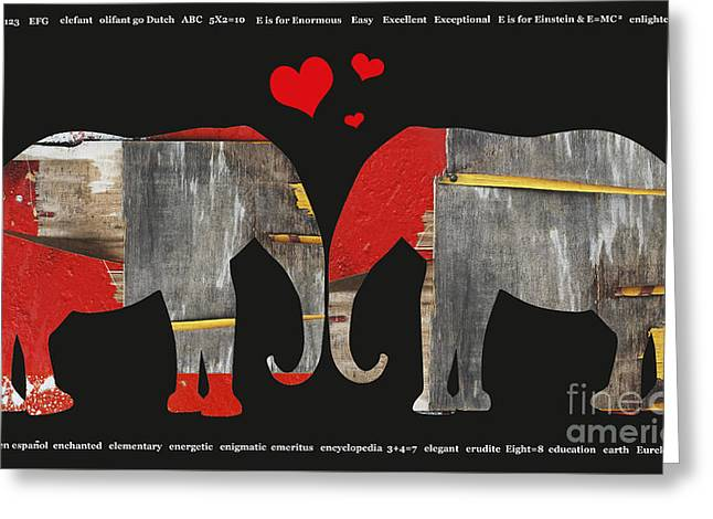 Inspirational Licensing Greeting Cards - Whimsical Elephant Art for Children Greeting Card by Anahi DeCanio