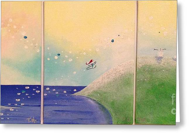 New England Ocean Greeting Cards - Whimsical New England 29-31 Greeting Card by Tiffany Holgate