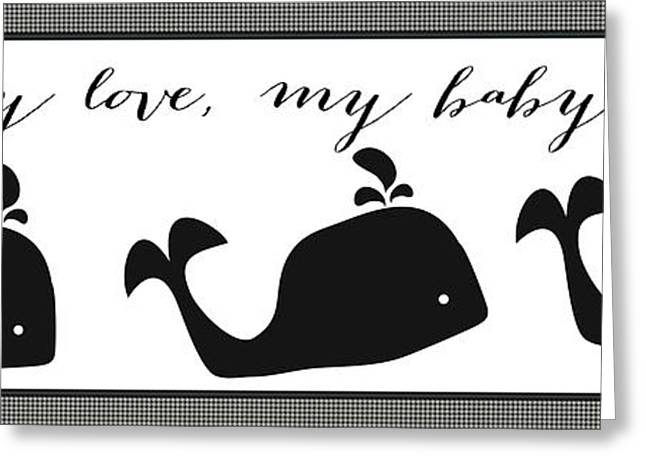 My Ocean Greeting Cards - Whimsical Whale Greeting Card by Legend Imaging
