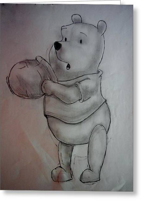 Bothers Greeting Cards - Whinnie The Pooh Greeting Card by Sarrah Weaver