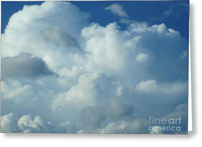 Grey Clouds Drawings Greeting Cards - Whipped Clouds Greeting Card by Tara  Shalton