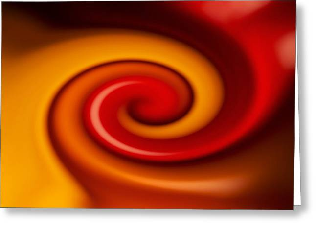 Hallucination Digital Art Greeting Cards - Whirl Greeting Card by Chevy Fleet