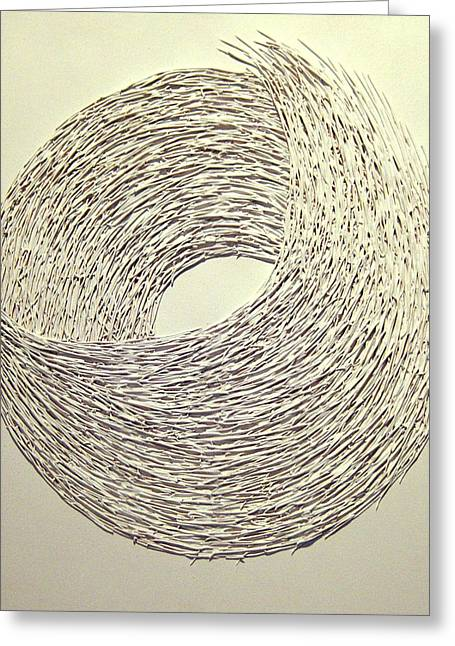 Spheres Reliefs Greeting Cards - Whirl Greeting Card by Daniel P Cronin