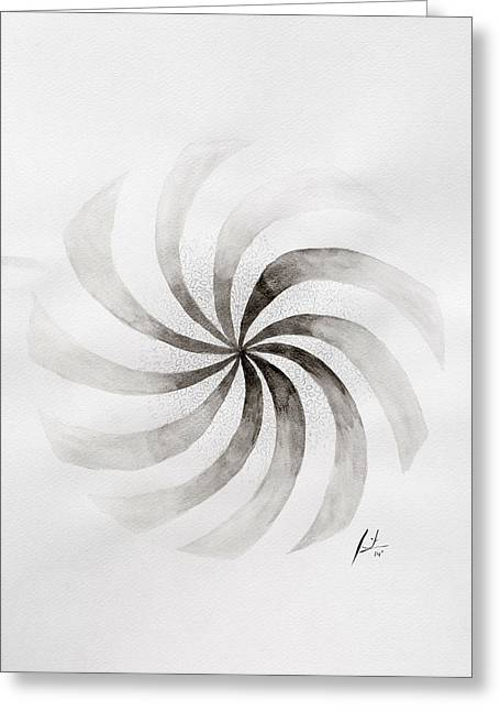 Rotate Paintings Greeting Cards - Whirl Greeting Card by Sumit Mehndiratta