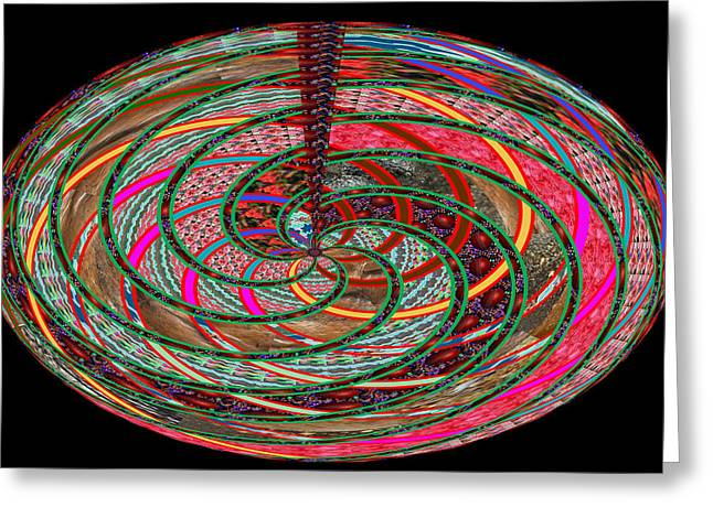 Experiment Greeting Cards - Whirl Wind Colorful Cosmic Waves Energy the universe is connected and new frontiers of knowledge is  Greeting Card by Navin Joshi