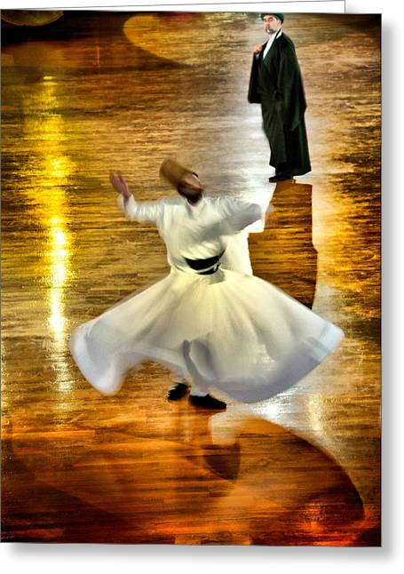 Whirling Dervish - 6 Greeting Card by Okan YILMAZ