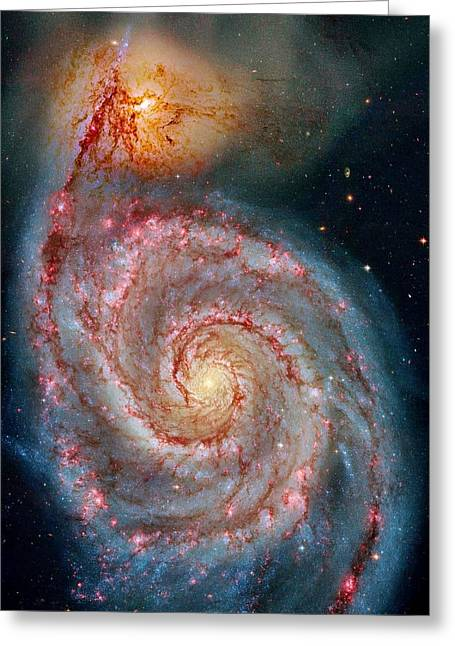Whirlpool Galaxy In Dust Greeting Card by Benjamin Yeager
