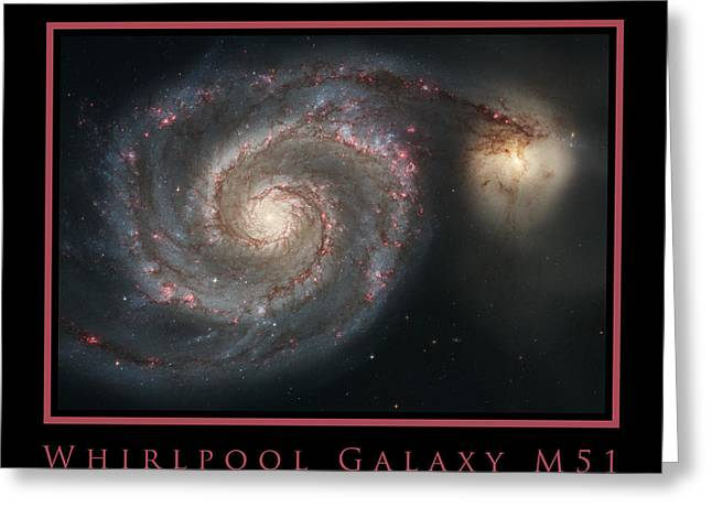 Light-years Greeting Cards - Whirlpool Galaxy M51 Greeting Card by Adam Mateo Fierro