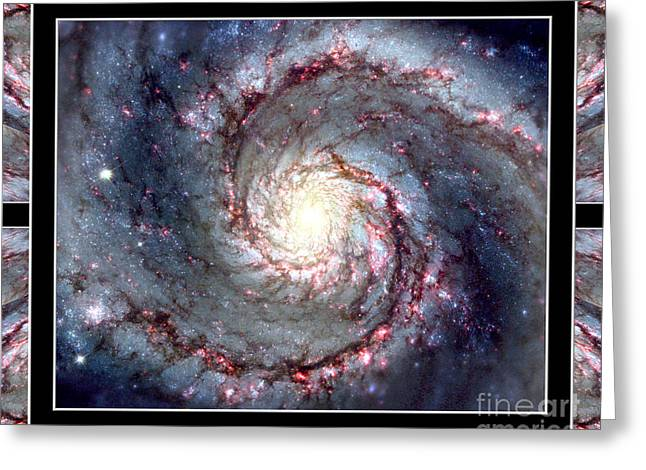 Whirlpool Galaxy Self Framed Greeting Card by Rose Santuci-Sofranko
