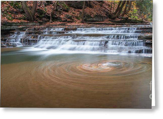 Buttermilk Falls Greeting Cards - Whirlpool  Greeting Card by Michael Ver Sprill