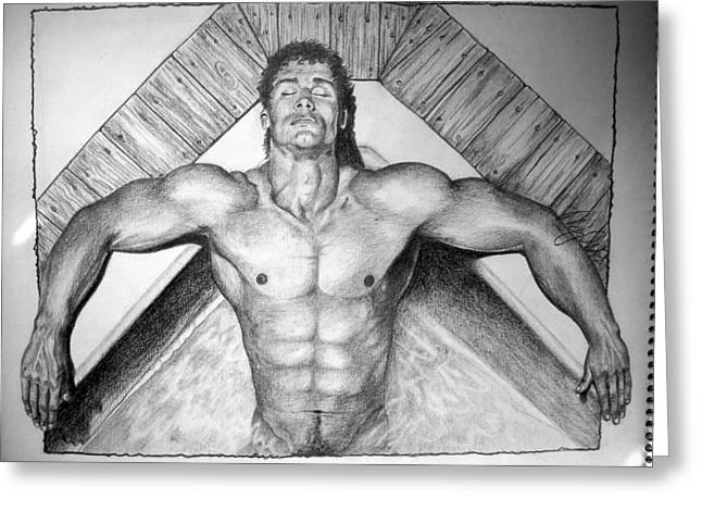 Physique Drawings Greeting Cards - Whirlpool Greeting Card by Mike Gonzalez