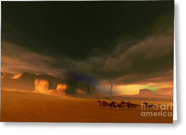 Thunderstorm Digital Greeting Cards - Whirlwind Greeting Card by Corey Ford