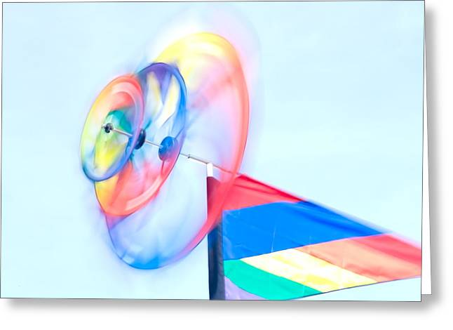 Whirligig 2 Greeting Card by David Smith