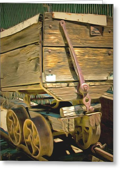 Mining Photos Greeting Cards - Whiskey Flats Ore Wagon Greeting Card by Barbara Snyder