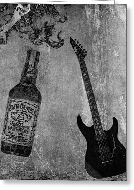 21st Greeting Cards - Whiskey Rock And Roll Greeting Card by Dan Sproul