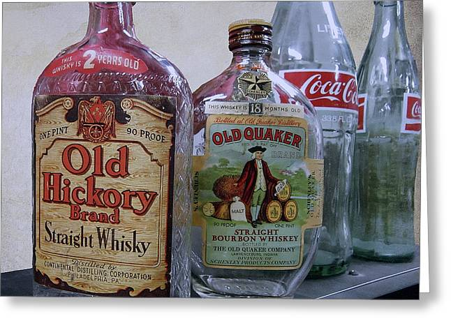 Quaker Greeting Cards - WHISKY and COKE Greeting Card by Daniel Hagerman