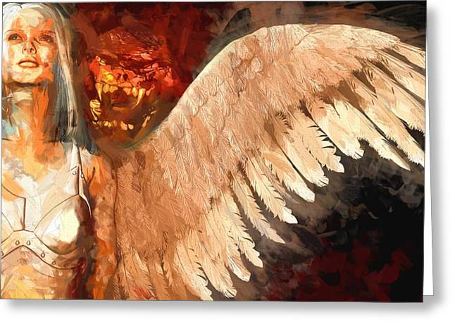Ying Greeting Cards - Whisper Between Heaven And Hell Greeting Card by Bob Orsillo